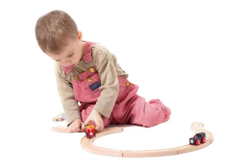 Cute Baby Playing with Toys