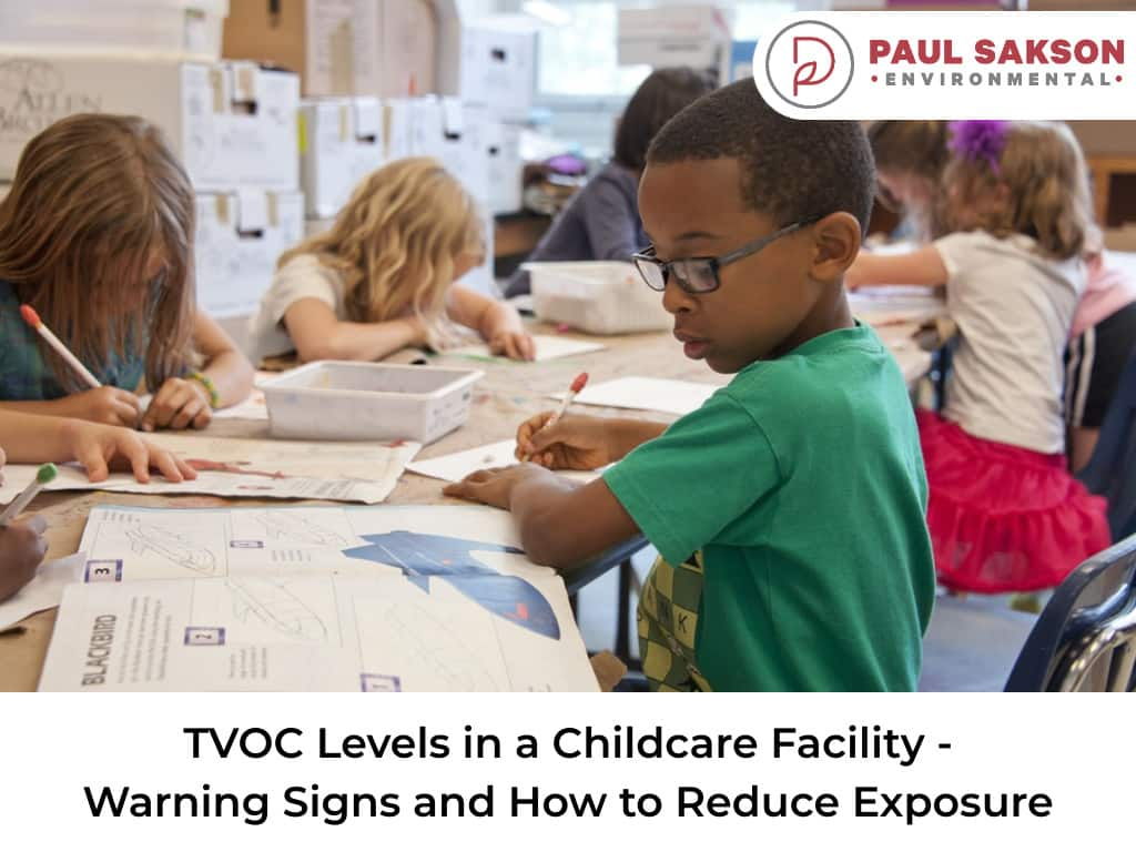 how to reduce exposure tvoc levels in a childcare facility